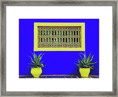 Jardin Majorelle, Marakesh Framed Print by Happy Home Artistry