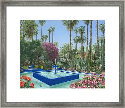 Jardin Majorelle Framed Print by Richard Harpum