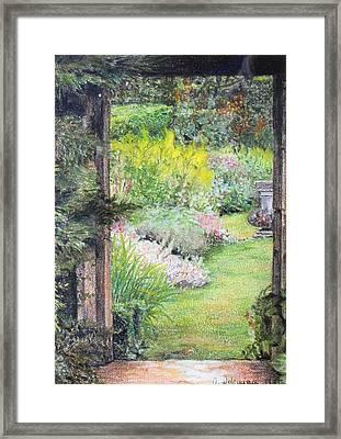 Jardin Framed Print by Muriel Dolemieux