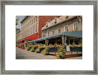Jardin Nelson - Old Montreal Framed Print by Maria Angelica Maira