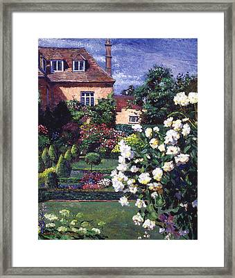 Jardin De Chateau Framed Print by David Lloyd Glover