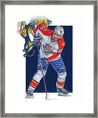Jaromir Jagr Florida Panthers Oil Art Series 3 Framed Print