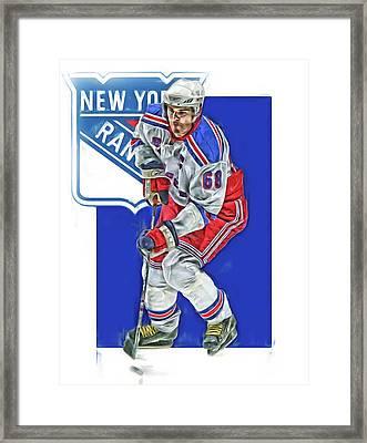 Jaromir Jagr New York Rangers Oil Art Series 5 Framed Print
