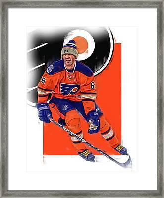 Jaromir Jagr Philadelphia Flyers Oil Art Series 2 Framed Print by Joe Hamilton