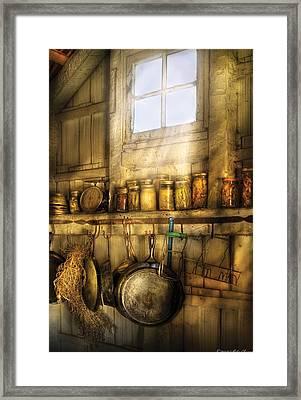 Jars - Winter Preserves  Framed Print by Mike Savad