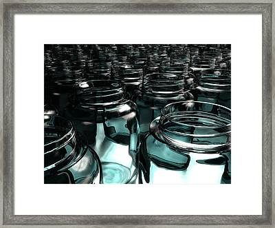 Jars Framed Print by Joel Lueck