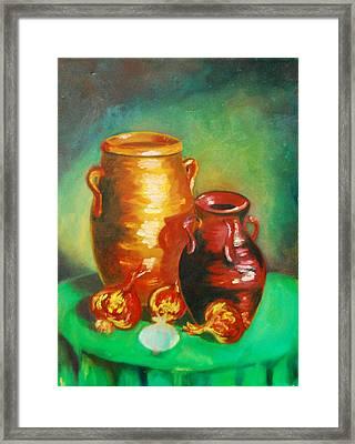 Jars Framed Print by Matthew Doronila