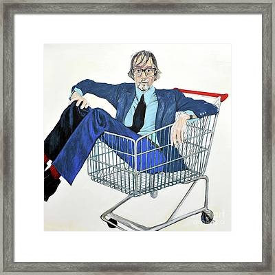 Jarvis Cocker 'off Yer Trolley' Framed Print