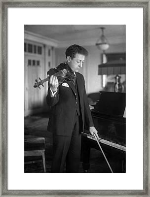Jascha Heifetz 1901-1987 Framed Print by Everett