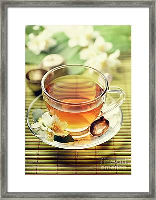Jasmine And Green Tea Framed Print