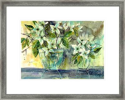 Jasmine In Glass Framed Print