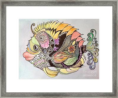 Jasmine The Fish Framed Print by Iya Carson