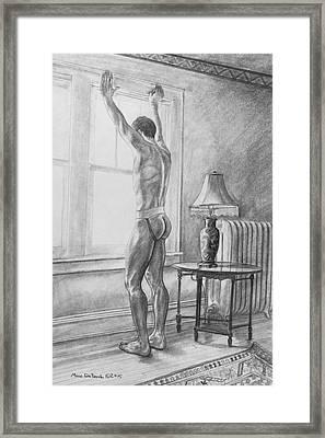 Jason At The Window Framed Print