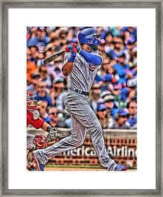 Jason Heyward Chicago Cubs Framed Print