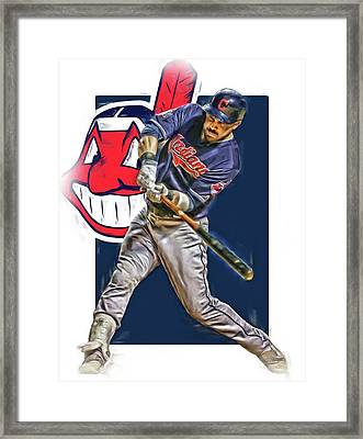 Jason Kipnis Cleveland Indians Oil Art Framed Print