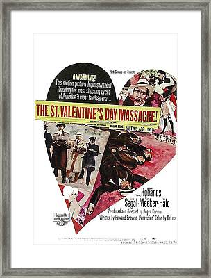 Jason Robards As Al Capone Theatrical Poster The St. Valentines Day Massacre 1967  Framed Print by David Lee Guss
