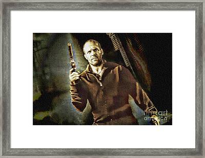 Jason Statham - Actor Painting Framed Print