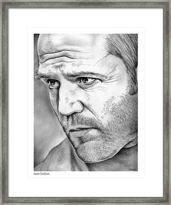 Jason Statham Framed Print by Greg Joens