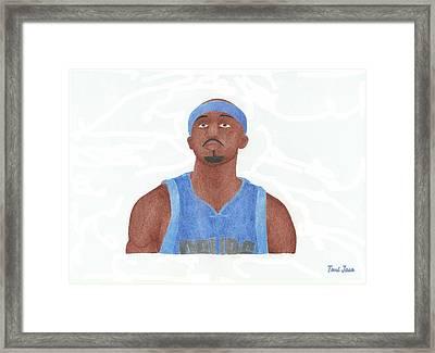 Jason Terry Framed Print by Toni Jaso