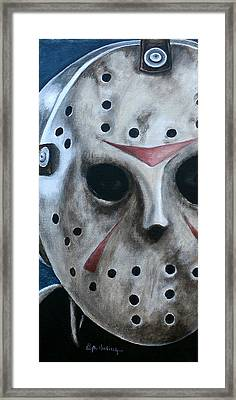 Framed Print featuring the painting Jason Up Close And Personal  by Al  Molina