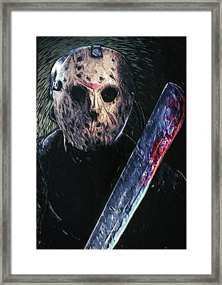 Jason Voorhees Framed Print by Taylan Apukovska
