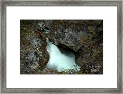 Jasper Beauty Creek Waterfall Canyon Framed Print