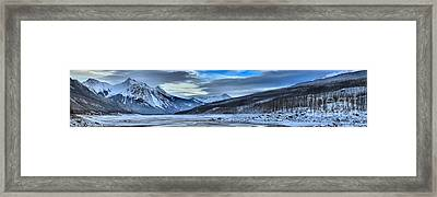 Jasper Medicine Lake Winter Landscape Framed Print by Adam Jewell