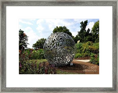 Jaume Plensa - Self-portrait-2 Framed Print by Wanda-Lynn Searles