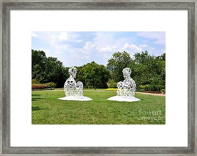 Jaume Plensa - The Soul Of Words I And II Framed Print