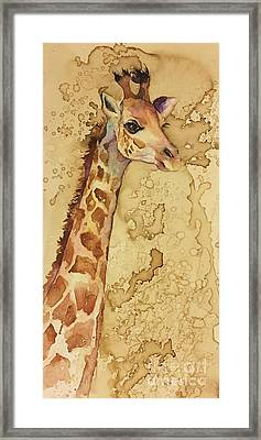 Framed Print featuring the painting Java Giraffe by Christy Freeman