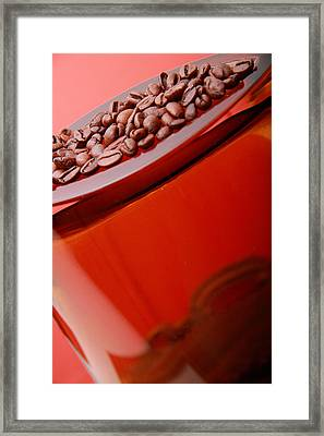 Java In Red Framed Print