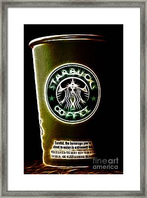 Java Jolt . The Beverage You Are About To Enjoy Is Extremely Hot Framed Print by Wingsdomain Art and Photography