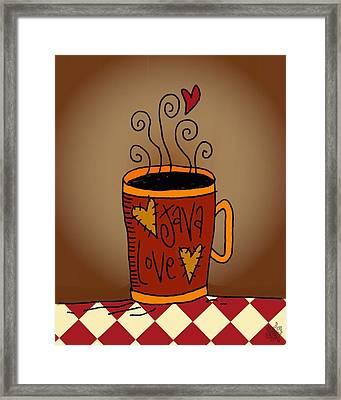 Java Love Framed Print