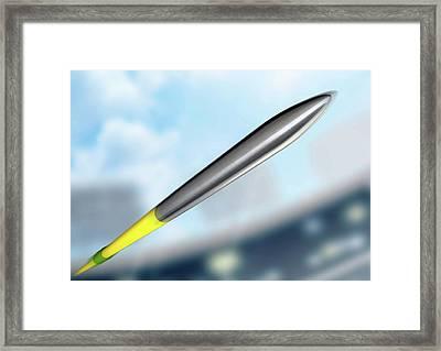 Javelin In Day Stadium Framed Print