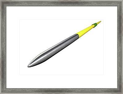 Javelin Isolated Framed Print