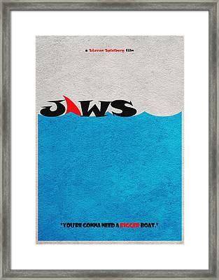 Jaws Framed Print by Ayse Deniz
