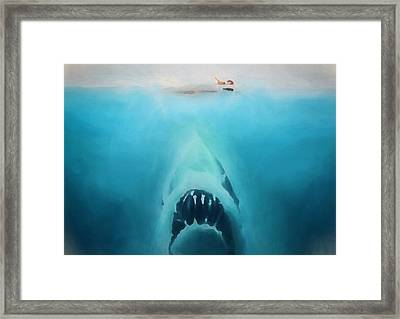 Jaws Framed Print by Dan Sproul