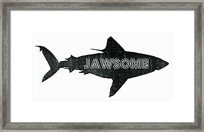 Jawsome Framed Print by Michelle Calkins