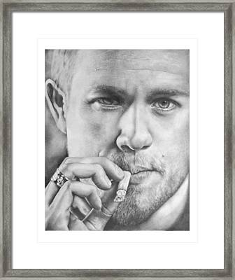 Jax Teller Framed Print by Heather Andrewski