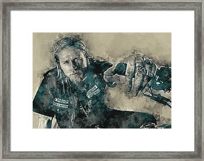 Jax Teller, Sons Of Anarchy Framed Print by Dante Blacksmith