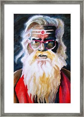 Jay Ganesh Baba Framed Print by Claudio  Fiori