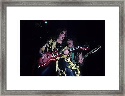 Jay Jay French And Mark The Animal Mendoza Framed Print by Rich Fuscia