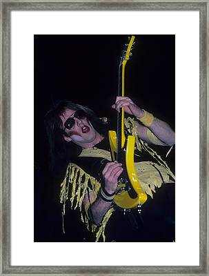 Jay Jay French Of Twisted Sister Framed Print by Rich Fuscia