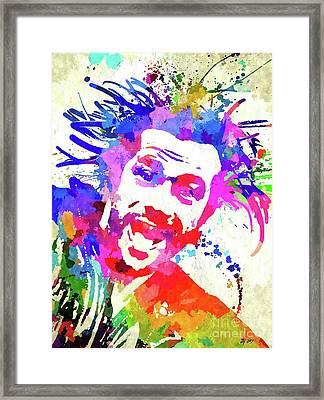 Jay Kay Jamiroquai Framed Print by Daniel Janda