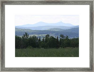 Jay Peak From Irasburg Framed Print