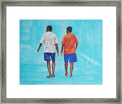 Jay Walkers Framed Print by Usha Shantharam