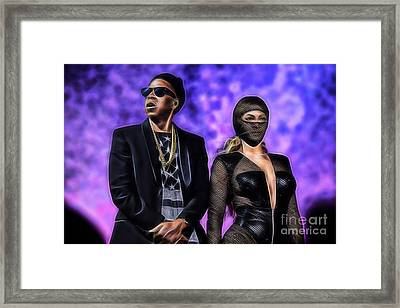 Jay Z And Beyonce Collection Framed Print by Marvin Blaine