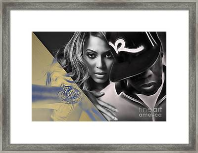 Jay Z Beyonce Collection Framed Print