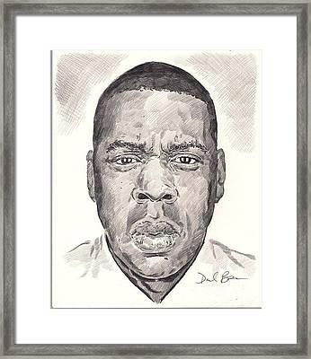 Jay-z Framed Print by Darryl Barnes