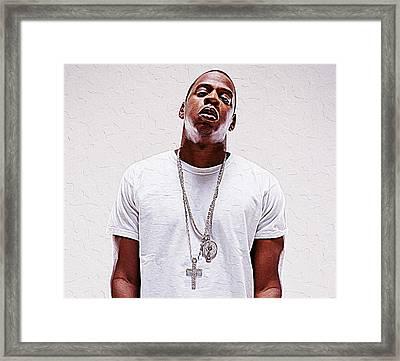 Jay-z Framed Print